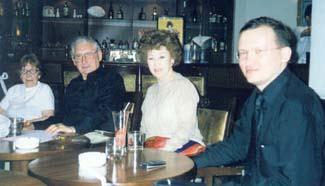 Встреча в Клубе (Л. Бабаскина, М. Николаев, О. Николаева, М. Дроздов)