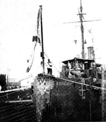 Крейсер «Аскольд» в шанхайском порту