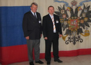 Председатель РКШ М. Дроздоов с князем А. Трубецким. Париж. Сентябрь 2008