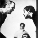 В. Иванов-Таганский и В. Высоцкий. Сцена из спектакля Театра на Таганке «Гамлет»