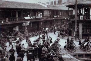 Улица между Старым китайским городом и французской концессией
