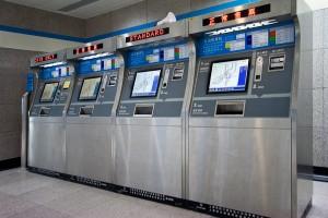 Метро в Шанхае: билетный автомат (фото: Ольги Пулиший)