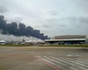 В шанхайском аэропорту разбился самолет