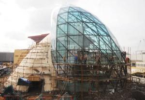Cтроящийся национальный павильон Израиля на ЭКСПО-2010 в Шанхае (14 декабря 2009 года)