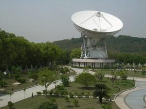 The Shanghai Radio Telescope (шанхайский радиотелескоп в районе Шэшань)