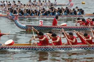 Праздник Драконьих лодок в шанхайских парках