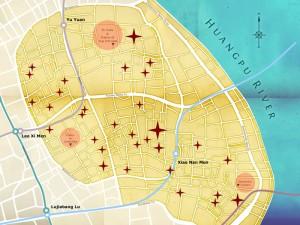 Карта Шанхая и достопримечательностей старого города