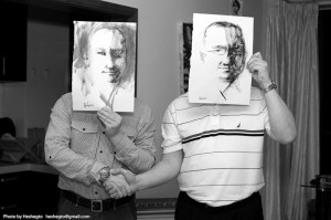 Руководители РКШ Альберт Крисской и Михаил Дроздов в гостях у Сергея Баловина